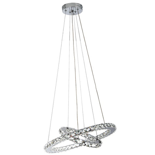 Maya 2 Ring Crystal LED Pendant Light - Lighting.co.za