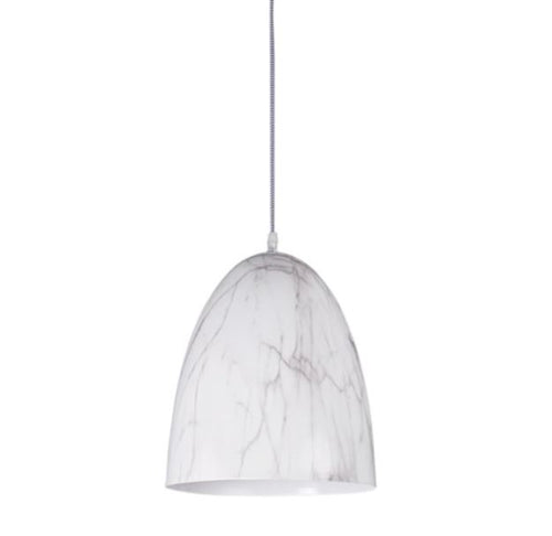 Cilla Metal Dome With Marble Finish Pendant Light - Lighting.co.za