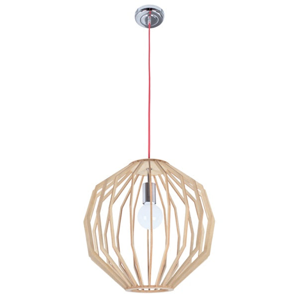 Stockholm Round Natural Wood Pendant Light - Lighting.co.za