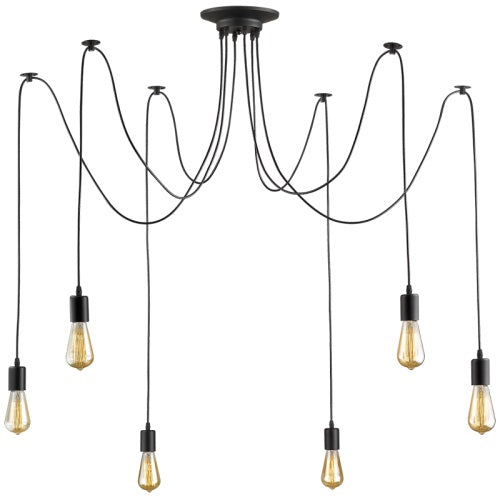 Spider Black 6 Light Pendant Light - Lighting.co.za