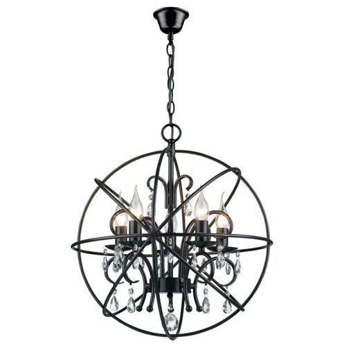 Satori Black 5 | 9 Light Orb Pendant Light - Lighting.co.za