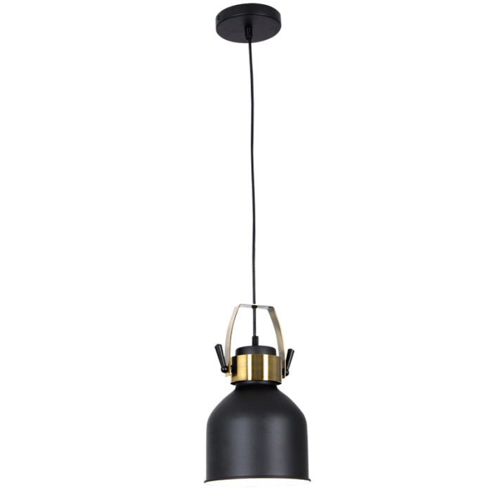 Uno Bell Black And Gold Pendant Light - Lighting.co.za