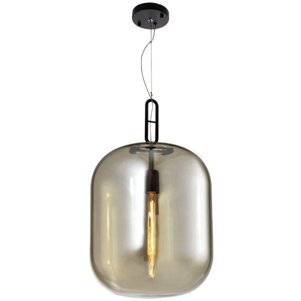 Dunne Large Cognac Amber Glass Pendant Light - Lighting.co.za