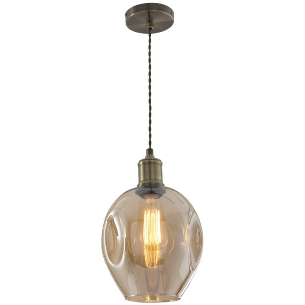 Amador Branch Mini 1 Light Glass Pendant Light - Lighting.co.za