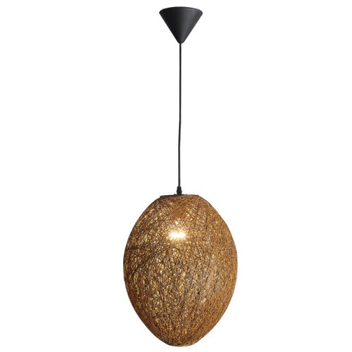 Habitat Egg Brown Or White Twine String Pendant Light - Lighting.co.za