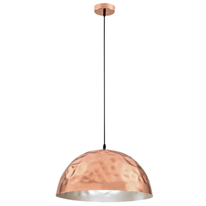 Ladelle Beaten Copper Dome Pendant Light - Lighting.co.za