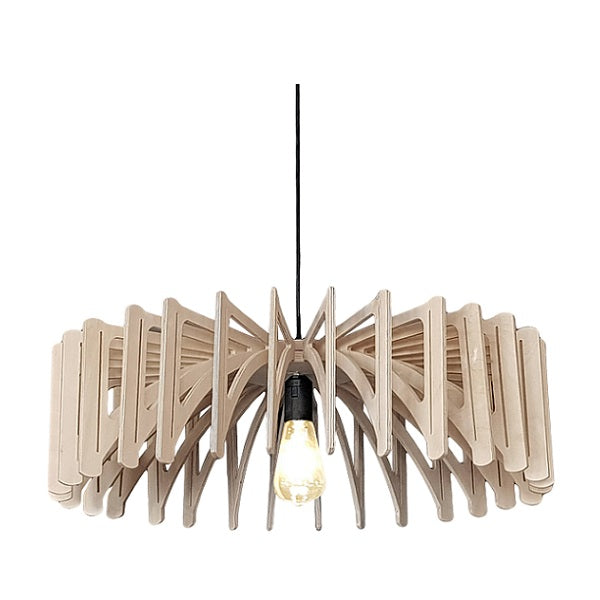 NATURAL BIRCH WOOD SLIM PENDANT LIGHT