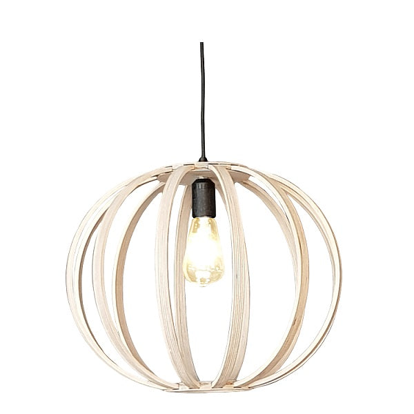 Natural Birch Wood Ball Pendant Light - Lighting.co.za