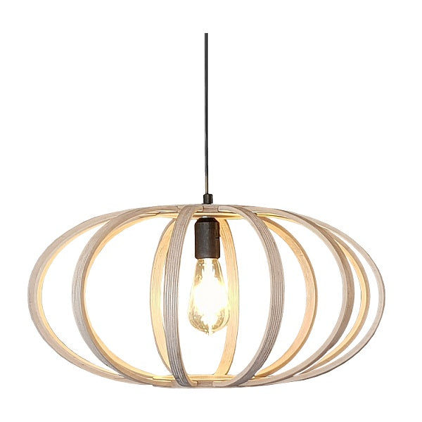 Natural Birch Wood Eclipse Pendant Light - Lighting.co.za