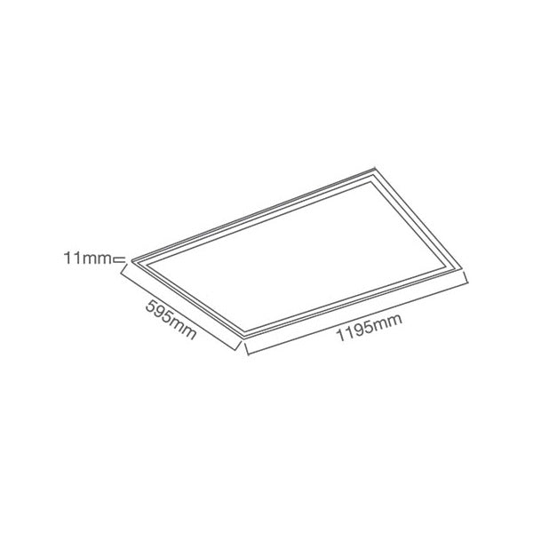 RECTANGULAR LED PANEL LIGHT 72W 4000K
