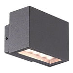 Lyon Black LED Up And Down Brick Outdoor Wall Light 2 Sizes - Lighting.co.za