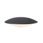 UFO Black And White Glass Outdoor Wall Light 2 Sizes - Lighting.co.za