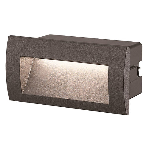Louis Black Rectangular 9W LED Recessed Foot Or Step Light - Lighting.co.za