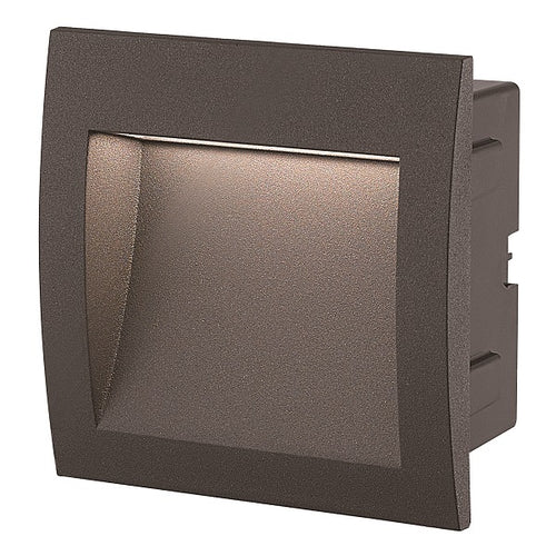 Louis Black Square LED Recessed Foot Or Step Light 2 Sizes - Lighting.co.za