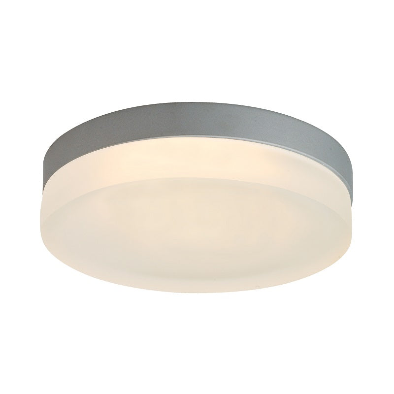 Puck Round Satin Silver Ceiling Light 3 Sizes - Lighting.co.za