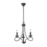 Cohen Classic 3 | 5 | 9 Light Plain Black Chandelier - Lighting.co.za