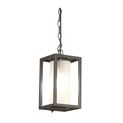 Austen Outdoor Black And Glass Lantern Pendant Light - Lighting.co.za