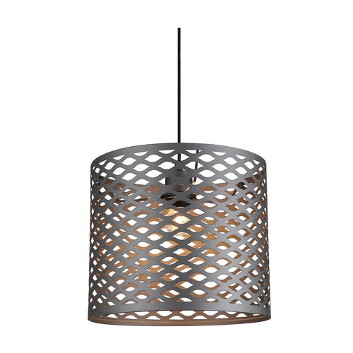 Carlo Grid Drum Metal Shade Pendant Light - Lighting.co.za