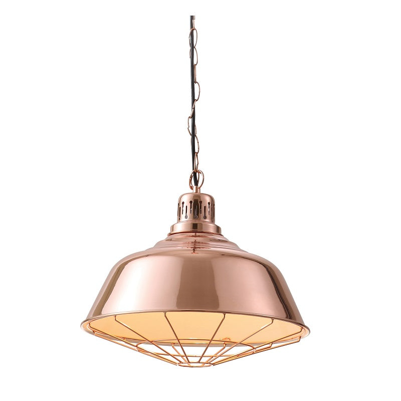 RISTO COPPER CAGE VINTAGE PENDANT - Lighting.co.za