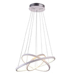 Flow 3 Ring White Or Chrome LED Pendant Light - Lighting.co.za