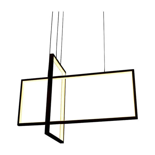 Module Black 2 Light Rectangular LED Pendant Light - Lighting.co.za