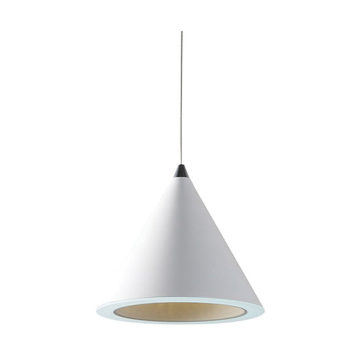 White Funnel 20W LED Pendant Light - Lighting.co.za