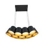FORGE BLACK AND GOLD LED PENDANT - Lighting.co.za
