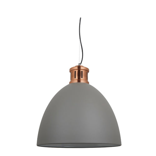 Annabel White Or Grey Dome Pendant Light Available In 2 Sizes - Lighting.co.za