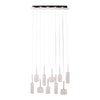 Francis 10 Light Chrome And Clear Glass Rectangular Cluster Pendant Light - Lighting.co.za