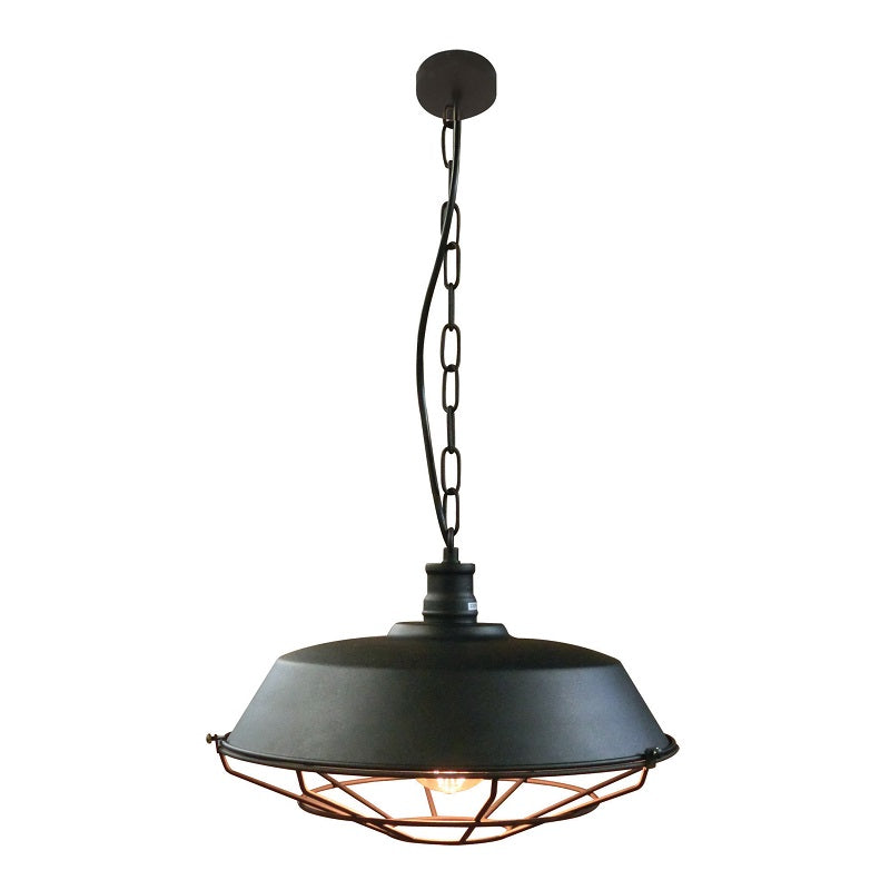 Kade Black Cage Grid Industrial Pendant Light - Lighting.co.za