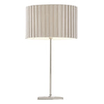 Lee Chrome and Grey Shade Table Lamp - Lighting.co.za