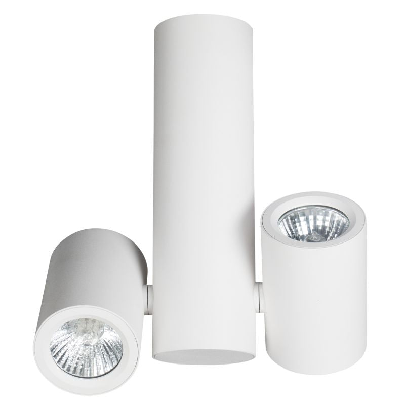 Newport 2 Light Adjustable GU10 Surface Mounted White Spot Light - Lighting.co.za