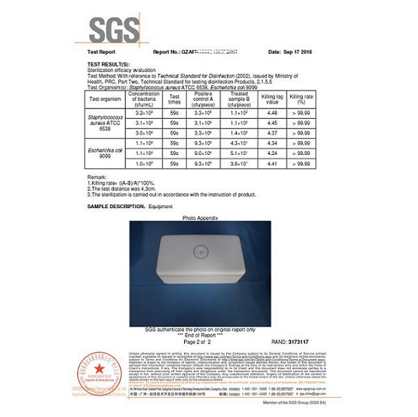59S 8 UVC LED Sterilizing Box For Beauty Tools, Household Goods Or Personal Items - Lighting.co.za