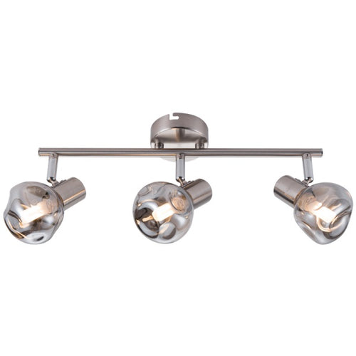 MILAN ADJUSTABLE SMOKE GLASS 3L SPOTLIGHT - Lighting.co.za