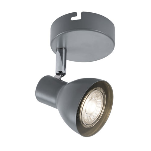 ONIN GREY ADJUSTABLE GU10 1L SPOTLIGHT - Lighting.co.za