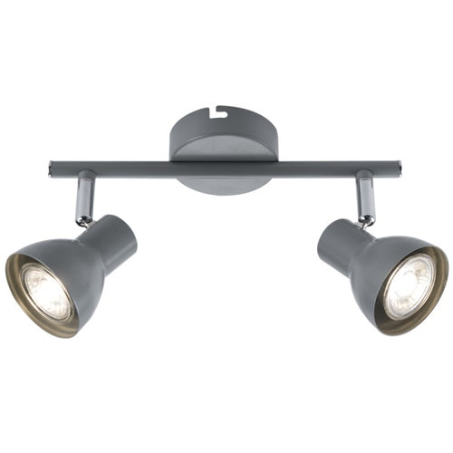 ONIN GREY ADJUSTABLE GU10 2L SPOTLIGHT - Lighting.co.za