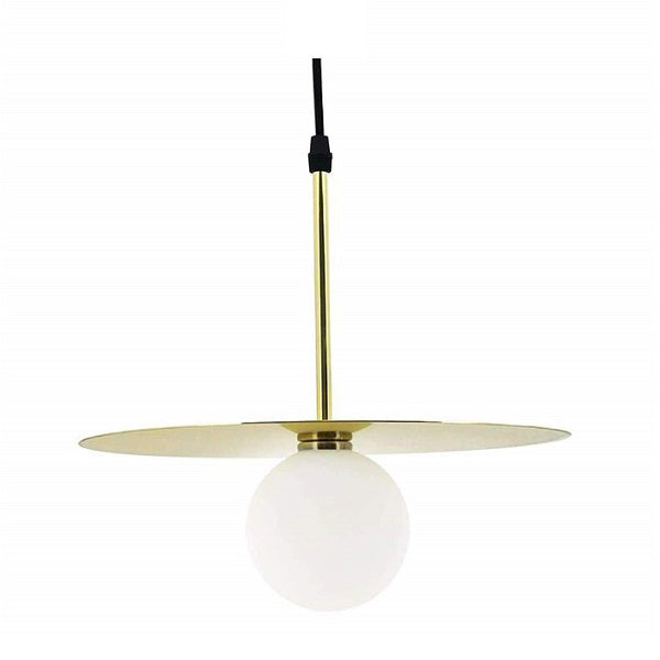 SATURN DISK GOLD PENDANT - Lighting.co.za