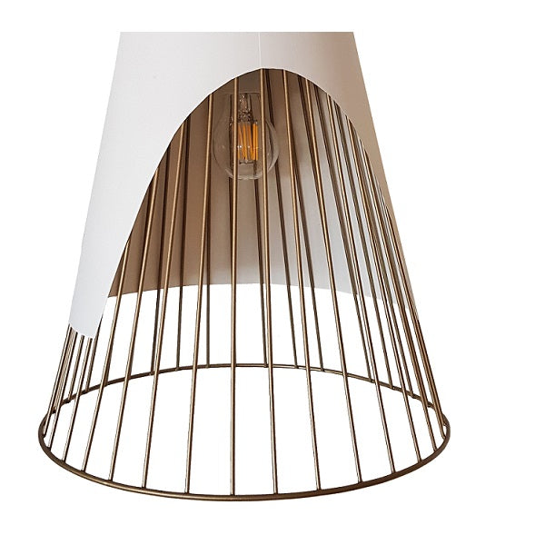 Dune Double Angled Shade And Wire Grid Pendant Light - Lighting.co.za