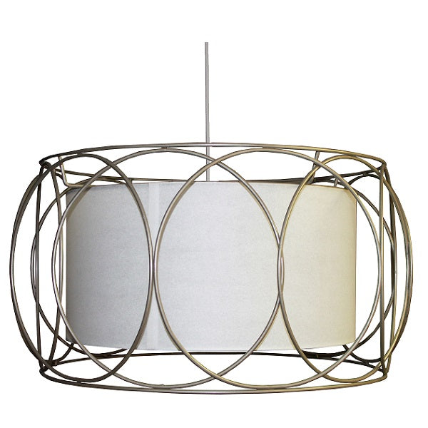 Sarina Gold Wire And White Shade Pendant Light - Lighting.co.za