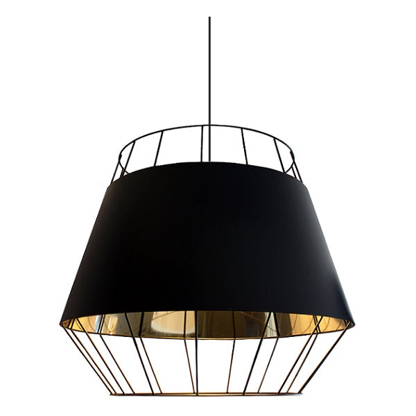 Madonna Black And Gold Wire Shade Pendant Light - Lighting.co.za