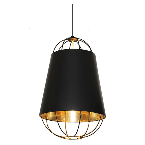 LOURDES BLACK GOLD WIRE PENDANT - Lighting.co.za