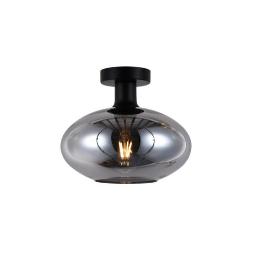 ORB SMOKE | CLEAR | AMBER GLASS CEILING LIGHT 2 SIZES - Lighting.co.za