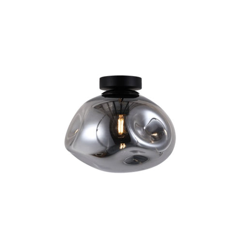 MOLTEN SMOKE |CLEAR |AMBER GLASS CEILING LIGHT 2 SIZES - Lighting.co.za