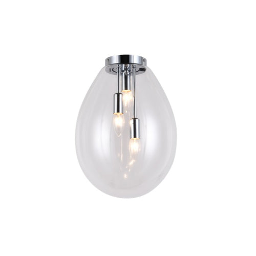 Dewdrop 3 Light Clear Glass Ceiling Light - Lighting.co.za