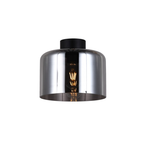 Drum Smoke | Clear | Amber Glass Ceiling Light - Lighting.co.za