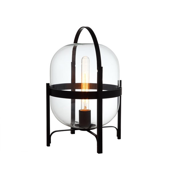 Hallstat Black and Clear Or White Glass Table Lamp - Lighting.co.za