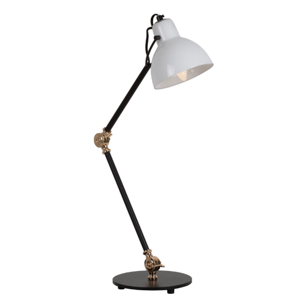 Siena Black Adjustable Glass Shade Desk Lamp - Lighting.co.za