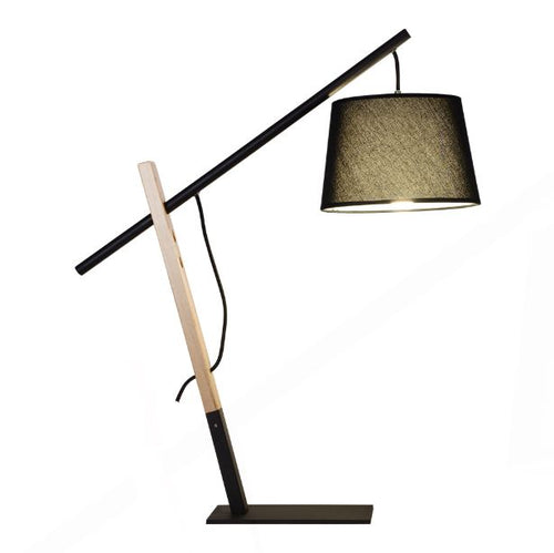 Black Bow Wood And Metal Table Or Desk Lamp - Lighting.co.za
