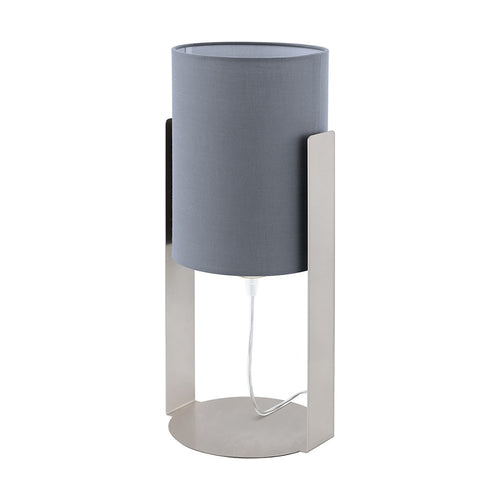 SIPONTO CHROME AND GREY TABLE LAMP