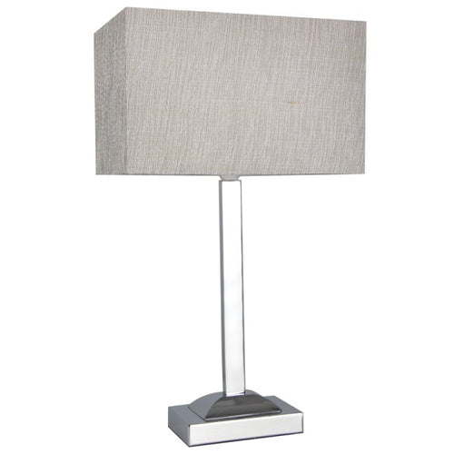 Vera Chrome And Champagne Shade Table Lamp - Lighting.co.za